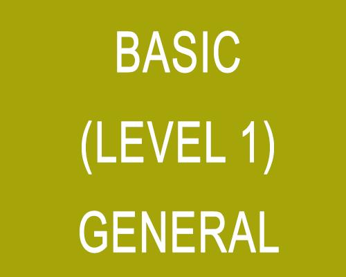 Basic (Level 1) – General